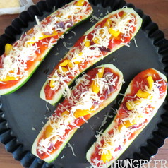 Courgette pizza 2