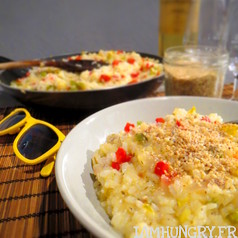 Risotto aux poivrons et parmesan vegetal 1