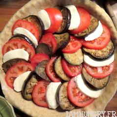 Tarte rustique tomate aubergine mozza 3