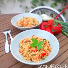 Poelee de boulgour aux oignons verts et tomate 1