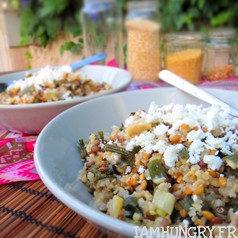 Poelee multi cereales aux oignons verts 1