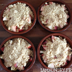 Crumble peche pomme speculoos 2