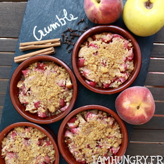 Crumble peche pomme speculoos 1c