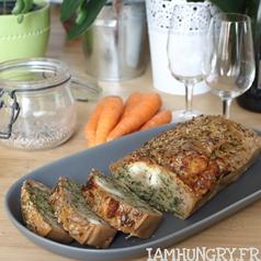 Cake fanes de carottes 1 carre