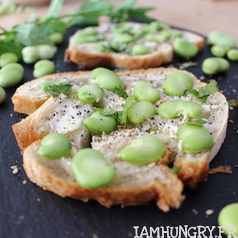 Tartines feves beurre menthe 1d