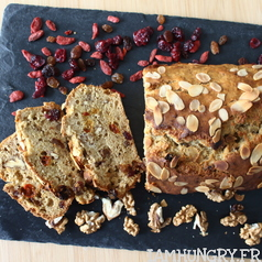 Banana bread vegan fruits secs 1a