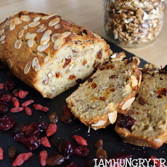 Banana bread vegan fruits secs 1g