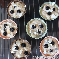 Muffins mures amandes 2