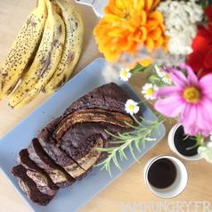 Banana bread cacao chocolat noisette 1b