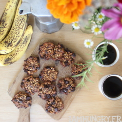 Cookie banane avoine chocolat 1a