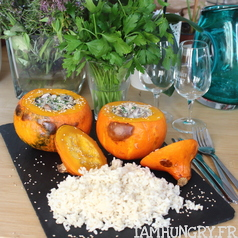 Potimarron faris champignons 1 carre