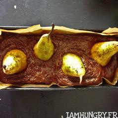 Gateau chocolat poires 2