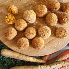 Boulette carotte polenta carre