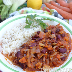 Chili sin carne dhiver carre