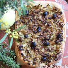 Pissaladie%cc%80re au fenouil carre