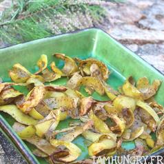 Chips d epluchures de patates carre