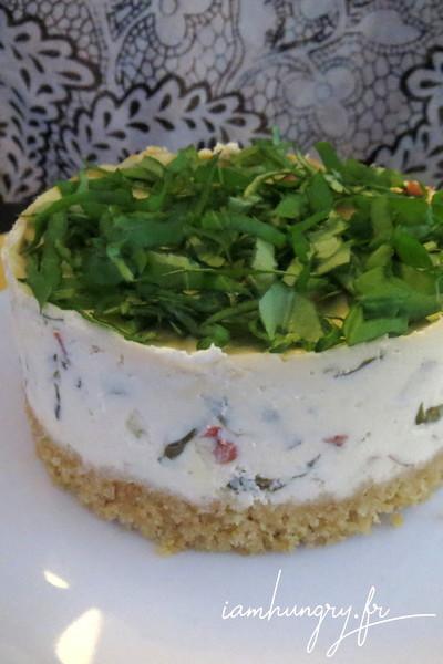 Cheesecake poivron et basilic