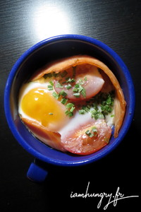Oeuf cocotte saumon