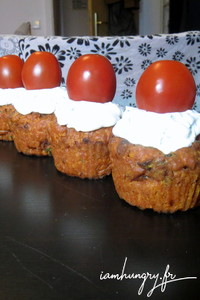 Muffins tomates sechees