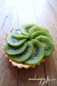 Tartelette kiwi cre%cc%80me patissie%cc%80re