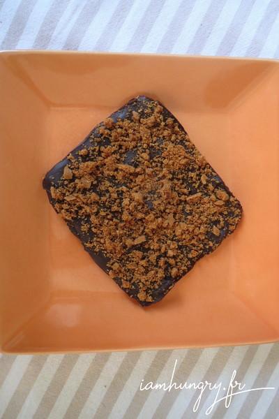 Tablette de chocolat-caramel au spécloos