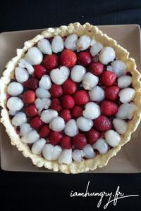 Tarte fraises litchis