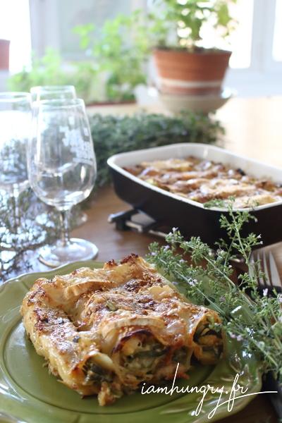 Cannelloni courgettes basilic
