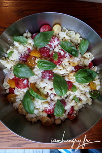 Salade de pates tomates parmesan