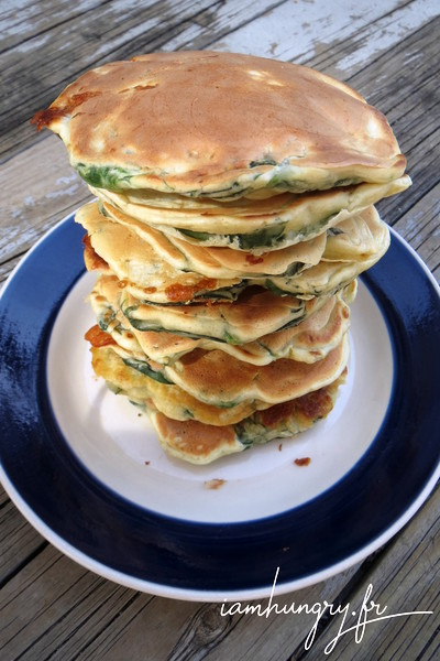 Pancakes épinards et roquefort