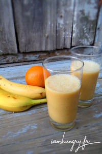 Smoothie banane orange