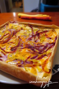 Quiche carotte multicolores