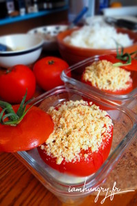 Tomates farcies crumble