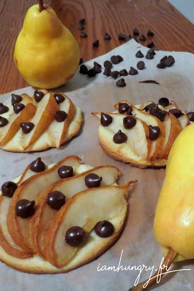 Petits sablés poires et chocolat