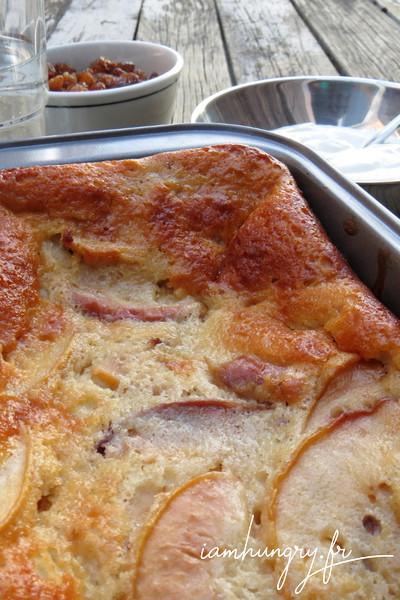 Gâteau léger aux pêches et au fromage blanc