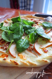 Pizza poire roquefort