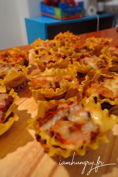 Coupes de lasagnes