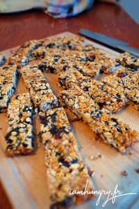 Barres de cereales pruneaux