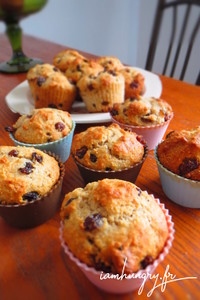 Muffins sante%cc%81 pommes cannerberges
