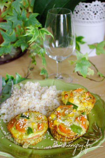 Muffins omelettes aux légumes