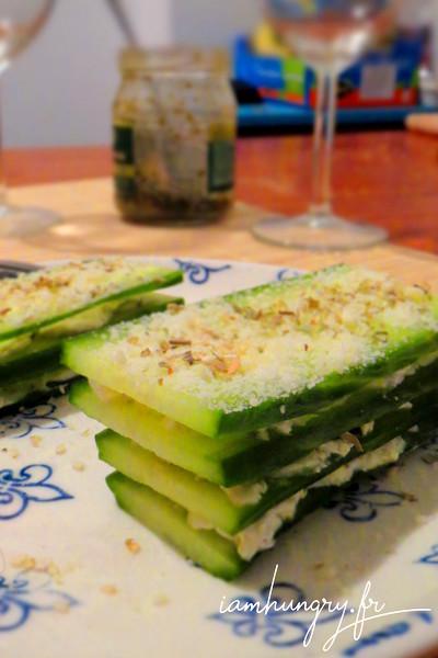 Mille-feuilles de concombre