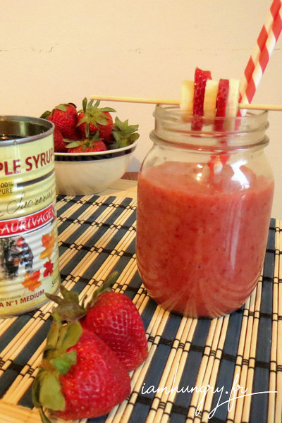 Smoothie fraise banane érable