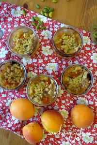 Crumble abricot pistache