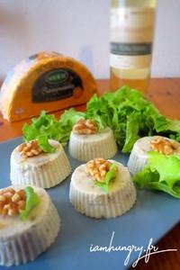 Flan roquefort noix