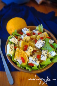 Salade orange feta