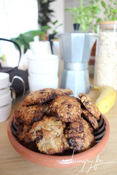 Cookie banane chocolat et rhum