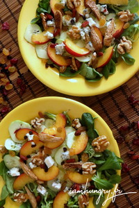 Salade peche concombre