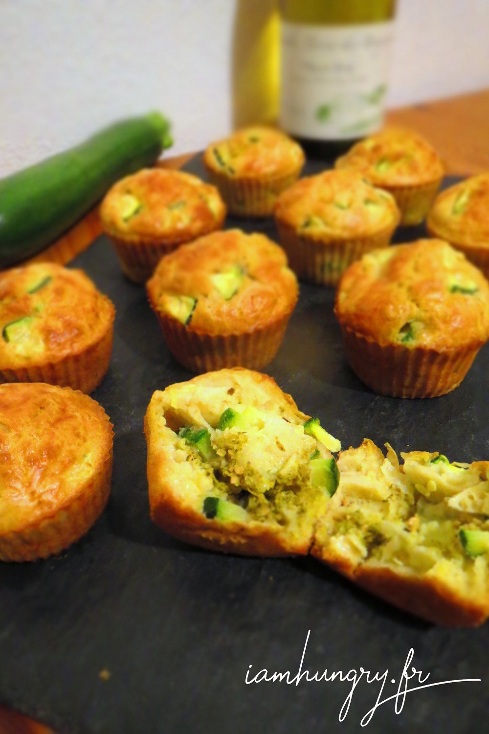 Cake Courgette Menthe Noix