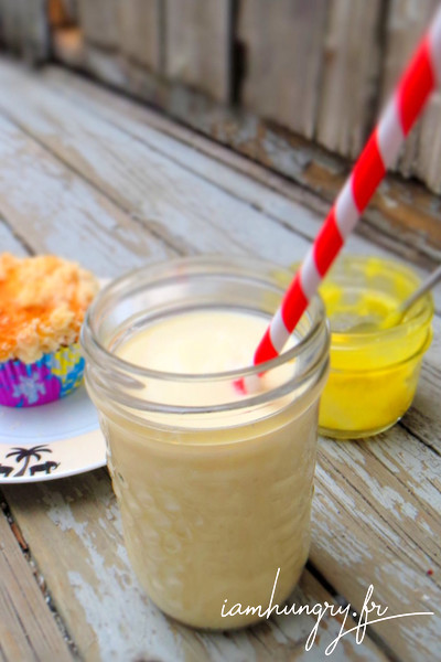 Milkshake banane et lemon curd