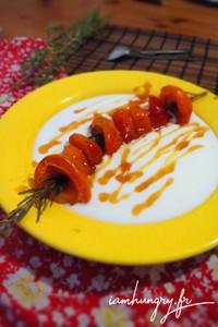 Abricot rotis romatin miel