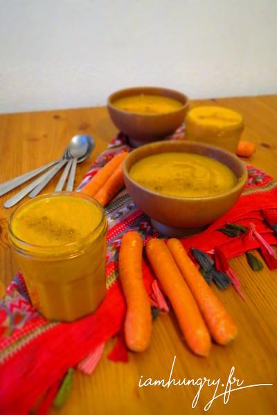 Velouté épicé de carottes